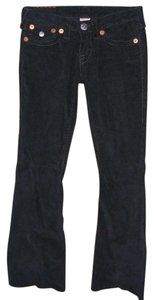 True Religion Twisted Seams Corduroy Boot Cut Pants Black