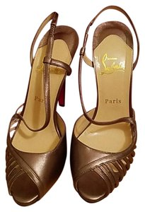 Christian Louboutin Pewter, Bronze Sandals