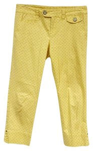Anthropologie Capris Yellow, White