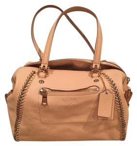Coach Satchel in apricot color