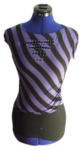 Bongo Purpleandblack Xsmall T Shirt Purple/Black