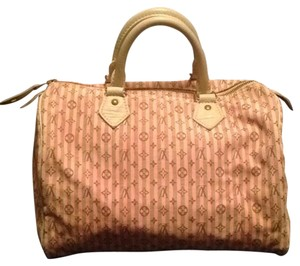 Louis Vuitton Neverfull Speedy Alma Mini Lin Satchel in Pink