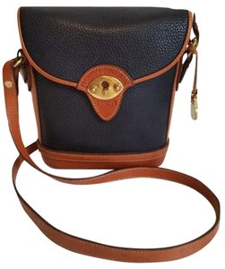 Dooney & Bourke Vintage Pebble Leather Brass Cross Body Bag