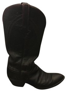 Lucchese Cherry Western Cowboy Black Boots