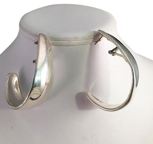 925 Silver EXTRA Large Half Hoop Earrings 925 Sterling EXTRA Large Half Hoop Earrings