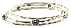 Ippolita IPPOLITA STERLING SILVER HEMATITE BANGLE TRIO SET NEW