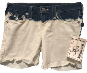 True Religion Mini/Short Shorts White and blue