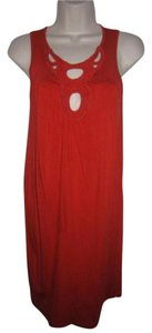 Ella Moss short dress orangish red with cut-out accent Flattering Cut on Tradesy