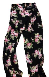 Forever 21 Relaxed Pants Black with rose