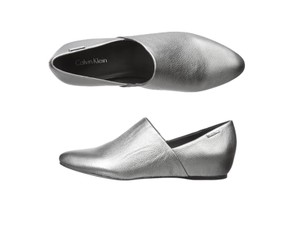 Calvin Klein Ballet Chic Studded Bohemian Vintage Silver Flats