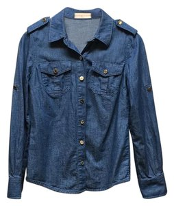 Tory Burch Button Down Shirt Denim