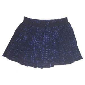 toile Isabel Marant Mini Silk Club Mini Skirt Blue Black