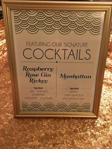 Gold Framed Art Deco Cocktail Sign (2)