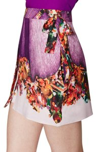 Misha Collection Silk Shorts Mini Skirt purple