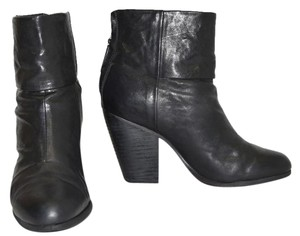 Rag & Bone Heel Ankle black leather Boots