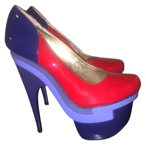 Versace Red/blue Platforms