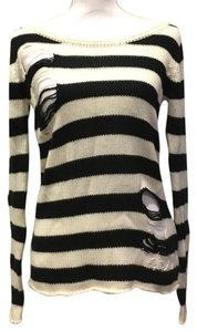 MINKPINK Oversized Striped Fall Distressed Sweater