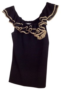 Cache Top Black/gold
