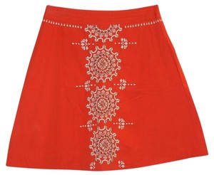 Anthropologie Skirt Orange