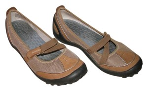 Privo Brown and Beige Flats