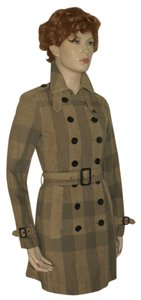 Burberry Check Trench Trench Coat