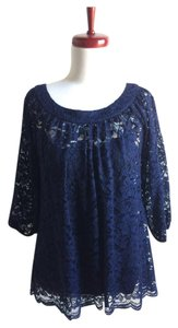 Diane von Furstenberg Lace Top navy blue