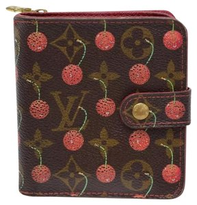 Louis Vuitton Authentic Louis Vuitton Cherry Murakami Wallet **LIMITED**