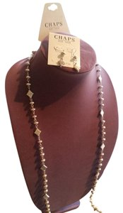 Chaps CHAPS NECKLACE AND EARRINGS SET, NEW