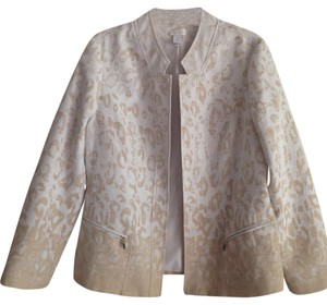 Chico's White / toffee Blazer