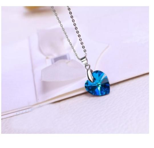 Luxury Designer Luxury Sterling Silver Ocean Heart Inspired Titanic Necklace