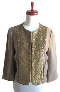 Forth & Towne Tweed Sequin Jacket taupe Blazer