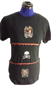 Gildan Skulls Small T Shirt Black