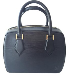 Louis Vuitton Epi Leather Sablons Handbag Tote in Black