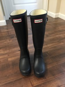 Hunter Waterproof Rain Black Boots