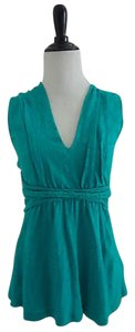 Anthropologie Vneck Top Green