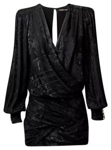 Balmain x H&M Ruched Black Dress