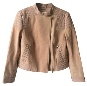 J Brand Suede Pink Rose Cloud Leather Jacket