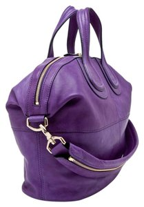 Givenchy Leather Medium Stachel Satchel in Purple