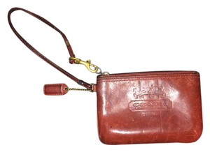Coach Very Unique Leather Red Clutch