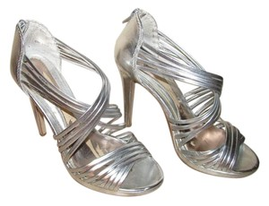 Chinese Laundry Silver Metallic Sandals