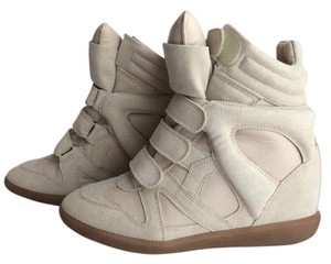 Isabel Marant Suede Sneakers Ecru Athletic