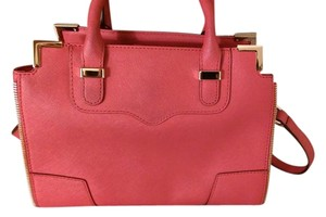 Rebecca Minkoff Leather Hot Pink Satchel Tote