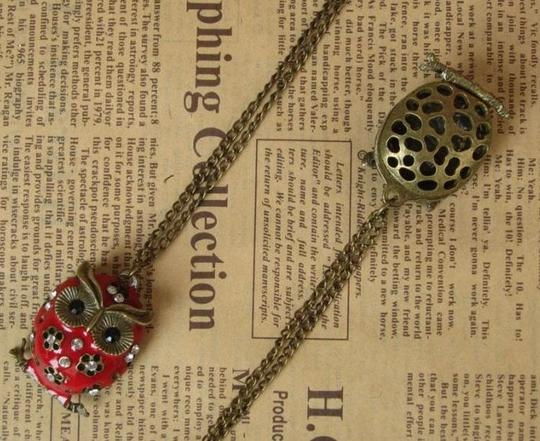 Red Bogo Free Owl Sweater Free Shipping Necklace