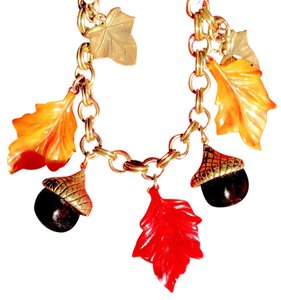 Acorns Bracelet | Fall Leaves | Metal >Links> Casing> Leaves