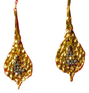 Double Happiness Gold Plated Metallic | Organic Stones | All Natural | Designer Zahav