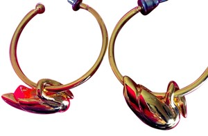 Other Double Happiness Gold Plated Swan Earrings | Good Luck Earrings