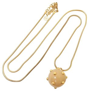 Chanel Chanel necklace Round Sphere Beige Gold Tone