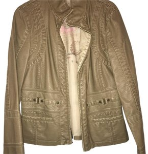 Other Taupe Grey Leather Jacket