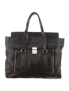 3.1 Phillip Lim Pashli Leather Satchel in Black