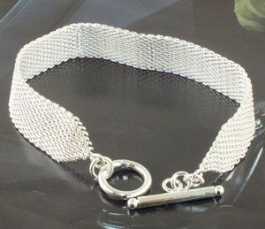 Sterling Silver Plated Mesh Bracelet Free Shipping